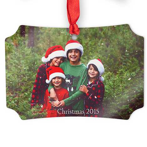 Icon Aluminum Scalloped Photo Ornament