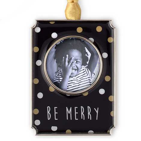 Icon Be Merry Photo Ornament
