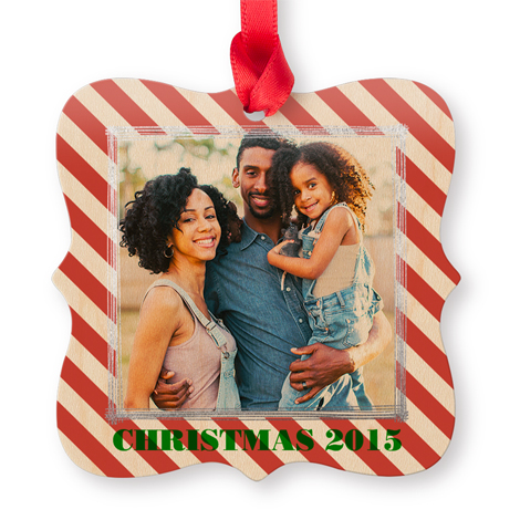 Icon Maple Square Photo Ornament