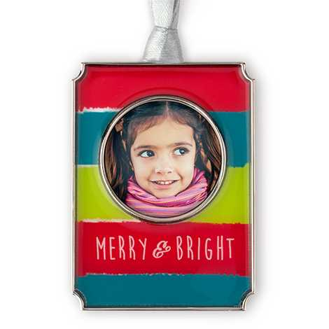 Merry & Bright Photo Ornament