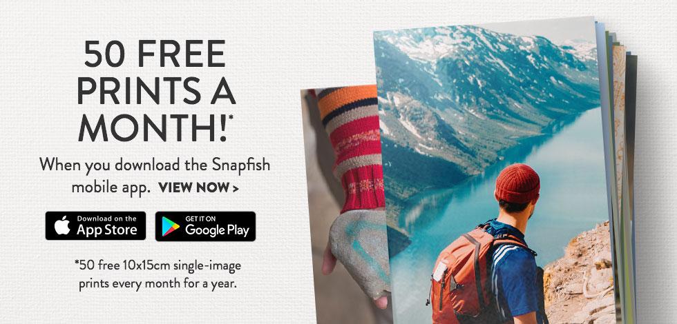 50 Free Prints each month!