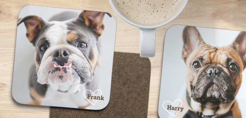 Pet photos on a coaster