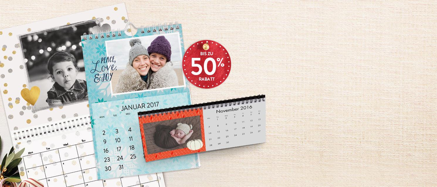 Durchs Jahr mit allen Lieblingsfotos : Bis zu 50% Rabatt auf Fotokalender