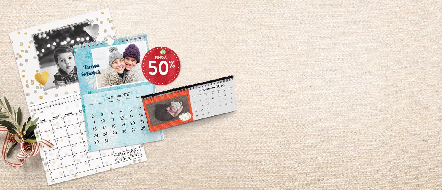 Offerte speciali sui Calendari : Sconti fino a -50% sui Calendari Codice: XMAS116