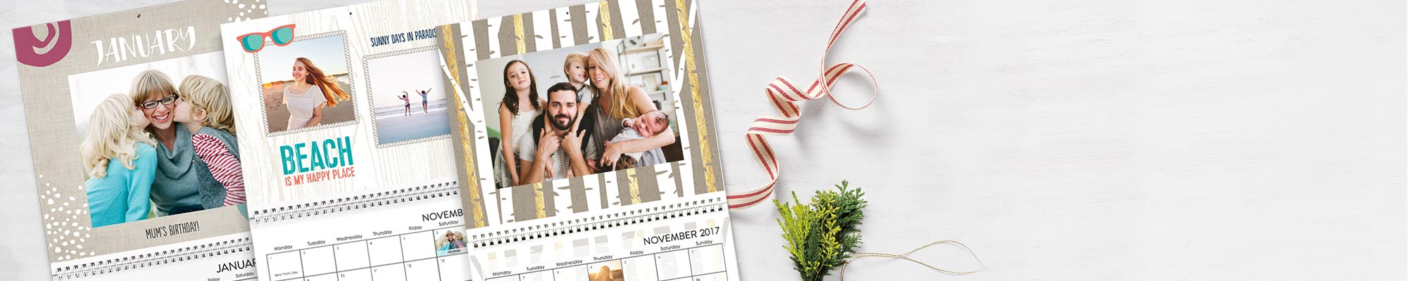 2017 Photo Calendars Enjoy 365 days of your favorite photos personalised with new fonts, designs and backgrounds.