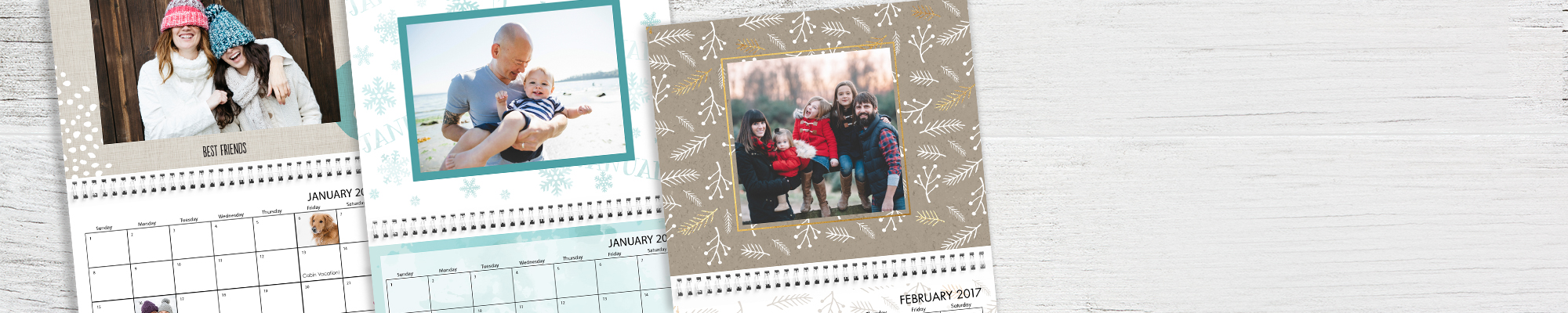 2017 Photo Calendars : Cheers to the best year ever! Create a personalized calendar for everyone on your list.