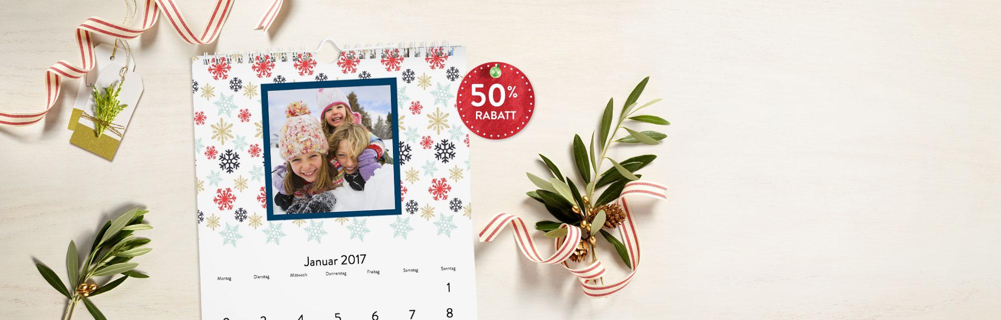Fotokalender  : Individuelle Fotokalender - A4 Wandkalender zum halben Preis mit Gutscheincode: BEST116