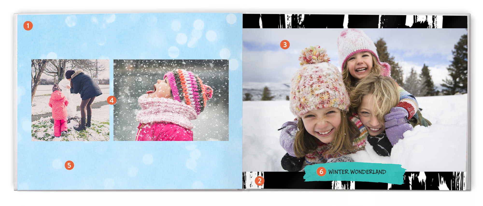 Easy-to-use photo book tools : With tools that make it easy to upload and arrange photos and personalise every page, you don't have to spend a lot of time to make a beautiful book.