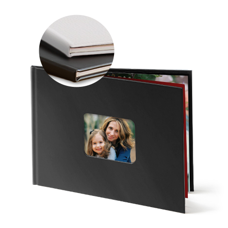 Leather hardcover with window from €34.99