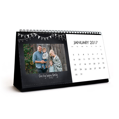 Personalised Photo Desk Calendar