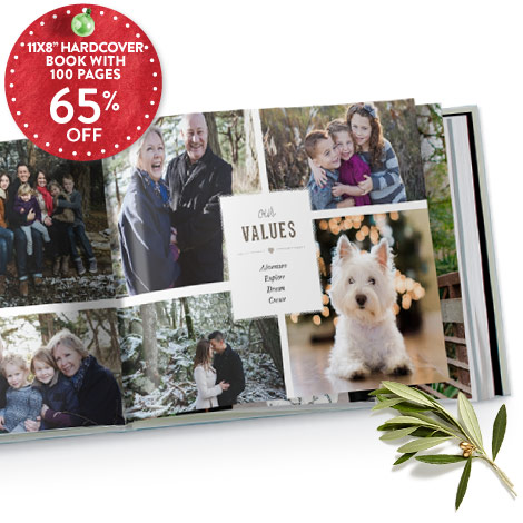 65% off 11x8 hardcover book with 100 pages