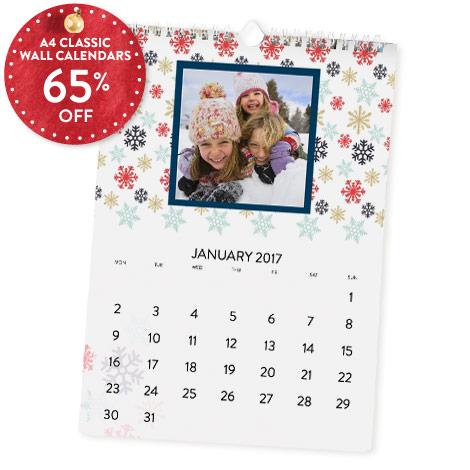 65% off A4 Classic Calendar