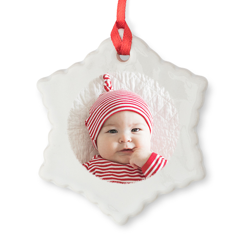 Star Christmas Photo Ornament