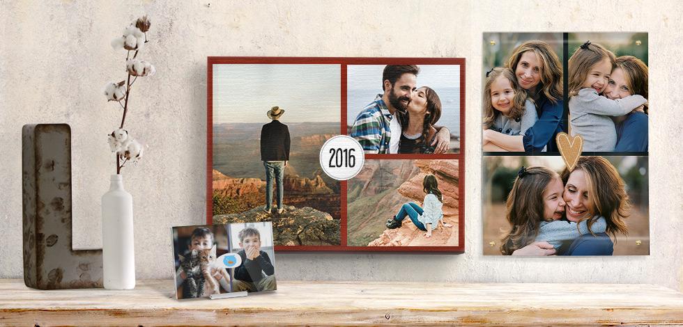 Fotoposter fotocollage 100 individuell gestalten ab 1 - Fotoleinwand erstellen collage ...