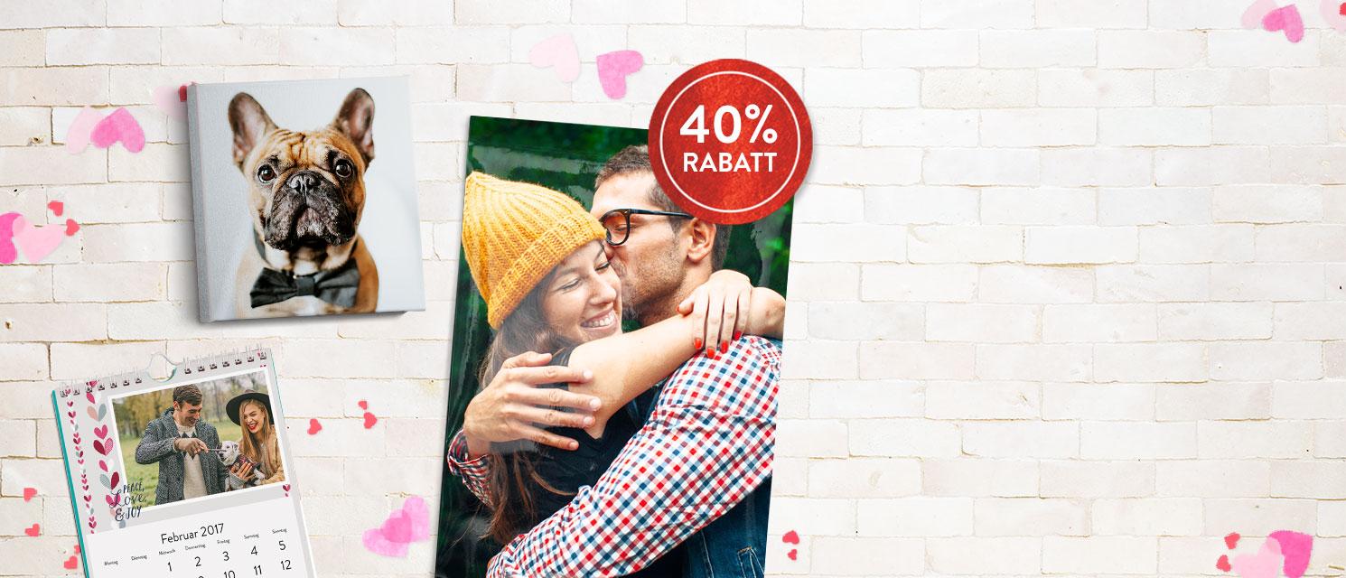 Liebe liegt in der Luft : ...mit 40% Rabatt auf unsere Wanddeko und 50% auf A4 & A5 Wandkalender
