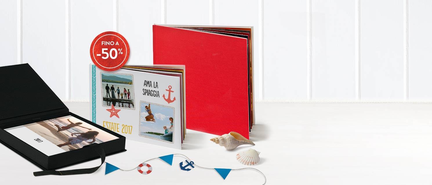 Fino a -50% sui FotoLibri!  : -40% su tutti i FotoLibri Codice: BOOK617 -50% sui FotoLibri 30x30 con copertina in lino Codice: 50BOOK617 Offerta valida fino al 02/07/2017