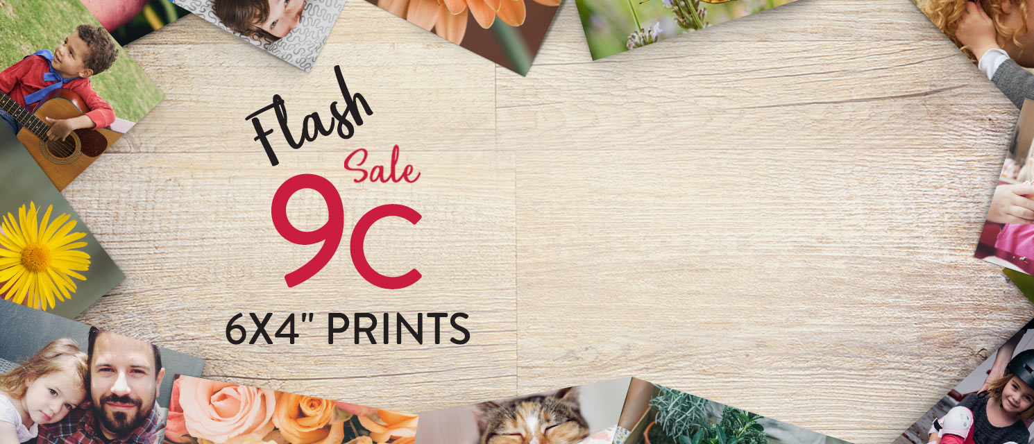 "Snap Happy : Enjoy great saving's on our 6x4"" Prints now just 9c each. Use code 9C517 by 31/5."
