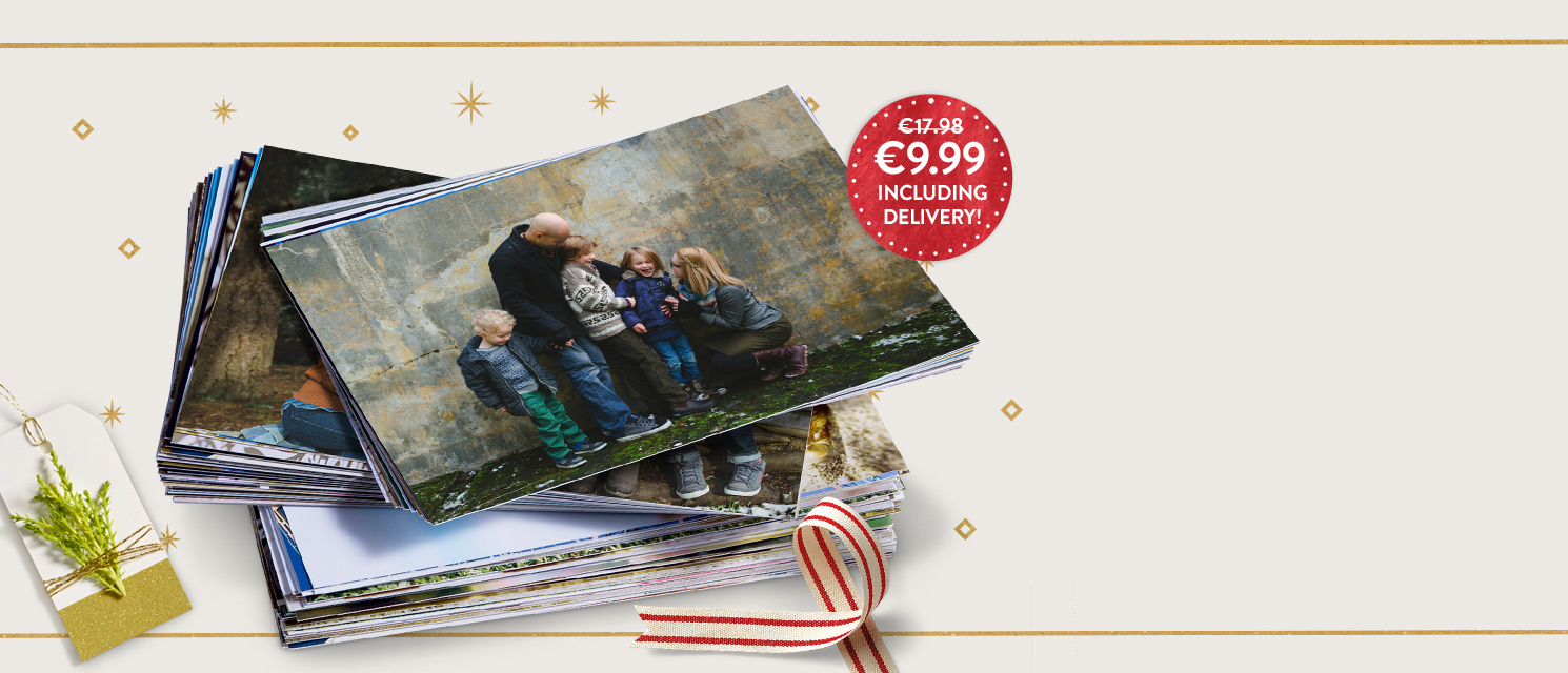 Print Deal : Enjoy 100 6x4'' prints for just €9.99 including delivery.Use code BUNDLE1117 by 27/11.