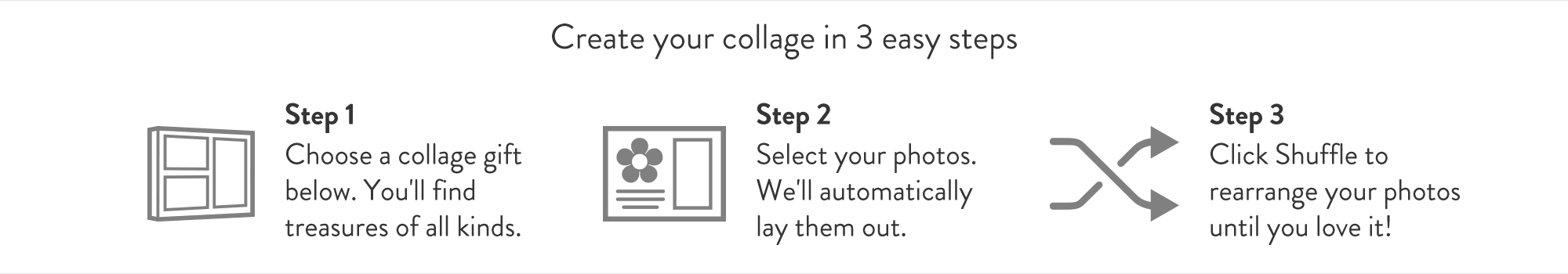 Collage gifts in 3 easy steps