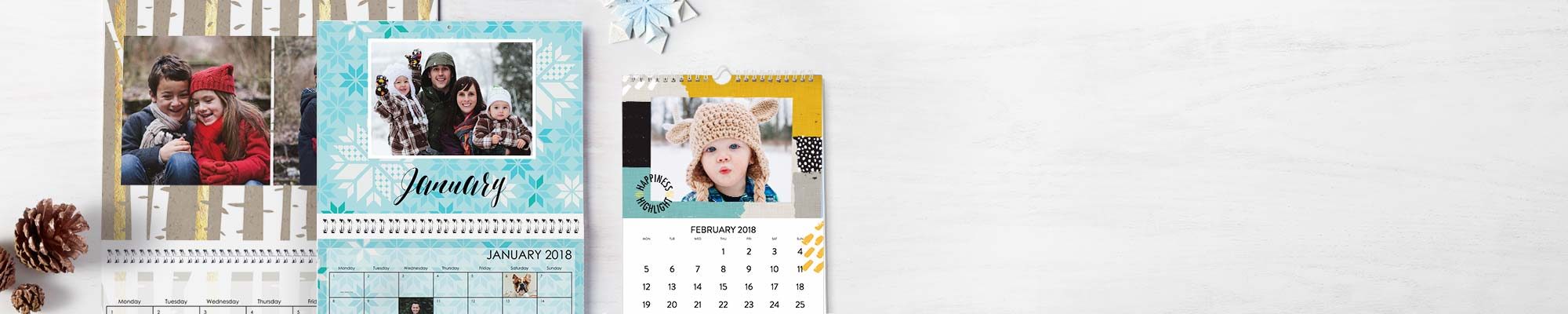 2018 Personalised Calendars Enjoy 365 days of your favourite photos personalised with new fonts, designs and backgrounds.