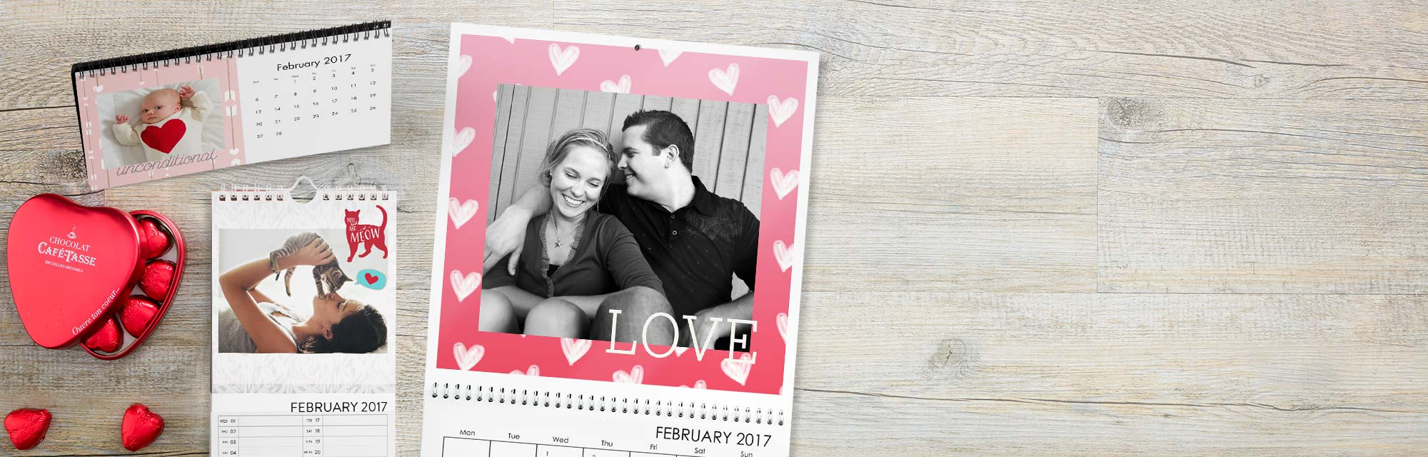 Feel the love all year long : Our photo calendars can be personalised by month and date.