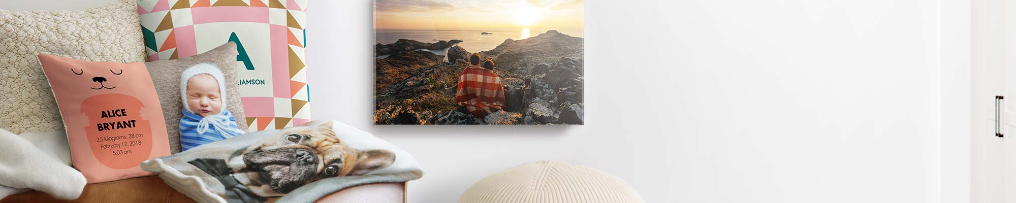 Home Décor & Wall Art Fill your home with a cosy collection of your favourite moments, places, and faces.