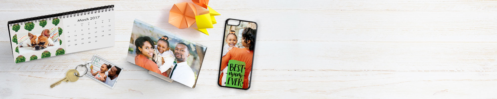 Shop All Products : Create a Mother's day personalised present with photo cards and gifts from Snapfish.