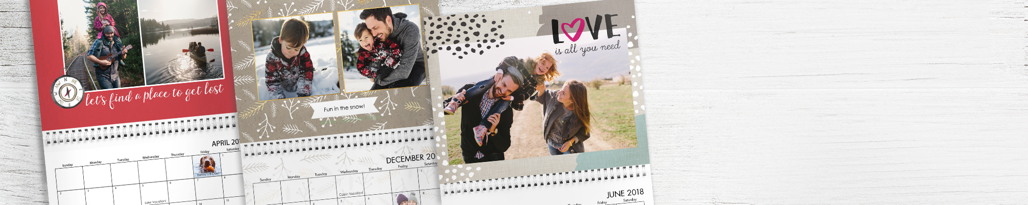2017 Photo Calendars It's never too late to create a personalized calendar for 2017 and prepare for 2018.