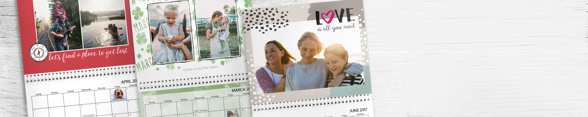 2017 Photo Calendars It's never too late to start creating your personalized calendar
