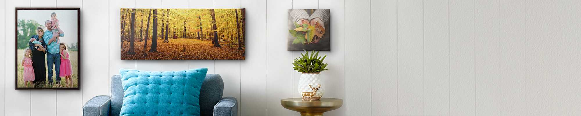 Canvas Prints Our canvas prints come with plenty of options so you can mix, match, and create something magical.