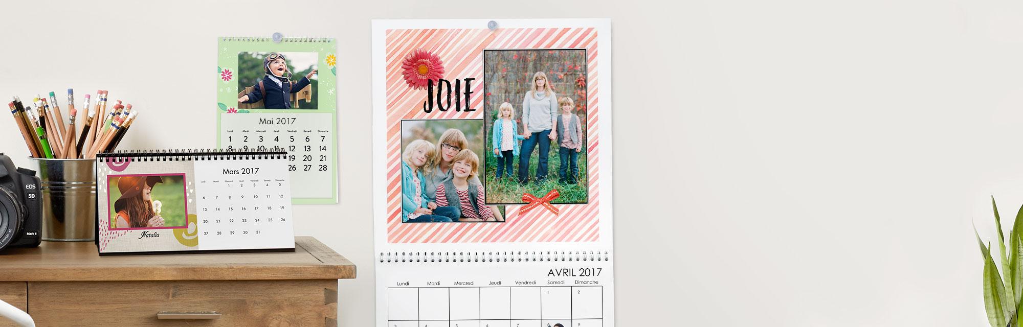 Calendriers Photo Personnalisés Profitez de l'année avec vos plus belles photos dans un calendrier photo personnalisé.