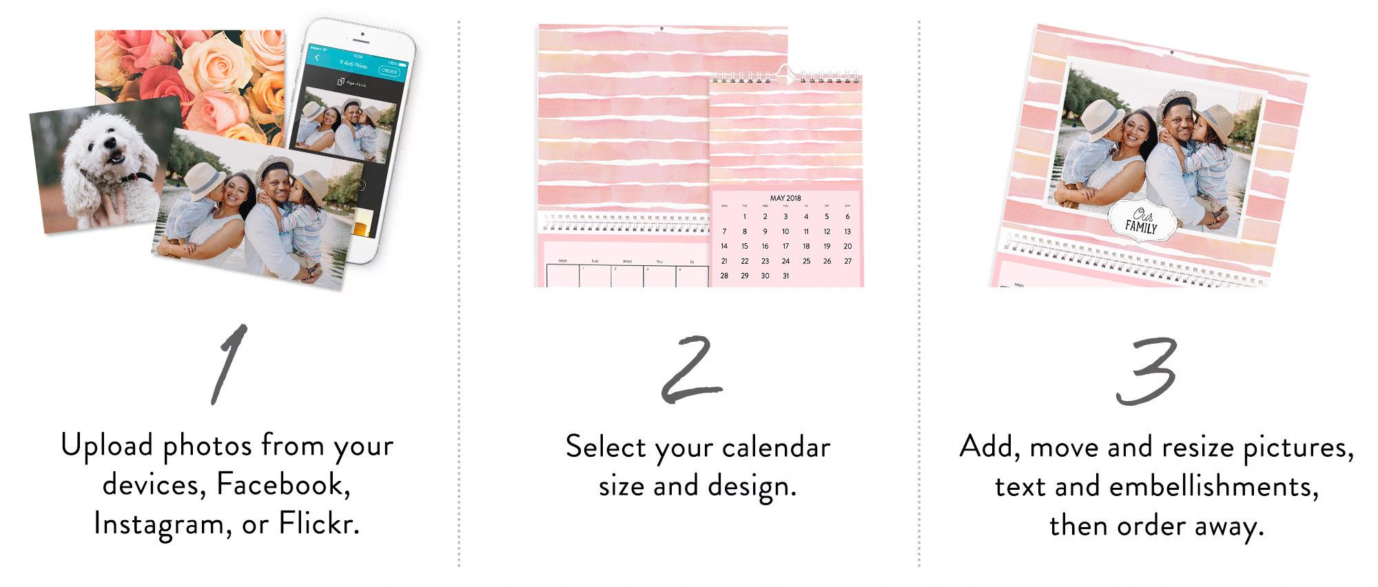 Making a calendar in 3 easy steps