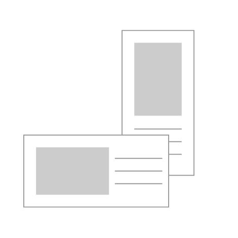 "4x8"" (10x20cm) Flat Cards"