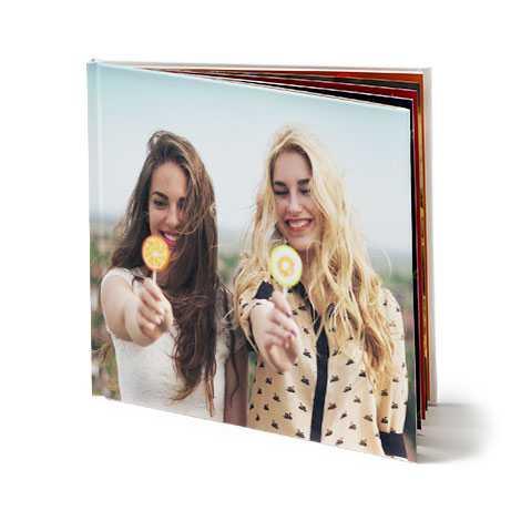 Livre photo portrait avec couverture rigide 30x30 cm