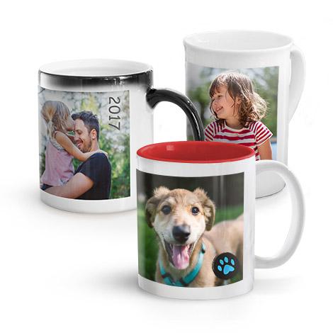 Mugs photo personnalisés
