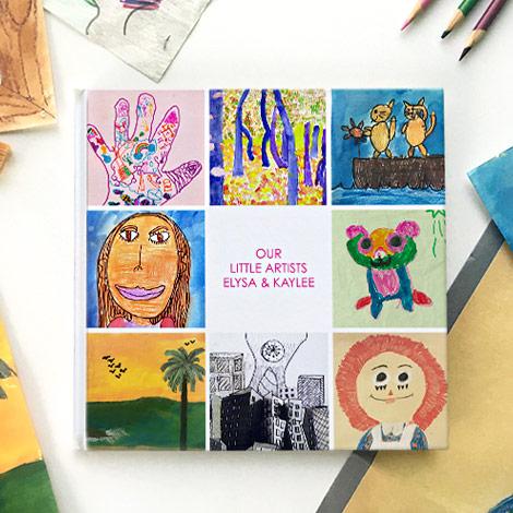 Transform childhood artwork into a photo book