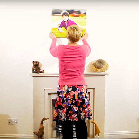 Watch behind the scenes, on how we create your personalised photo canvas prints!