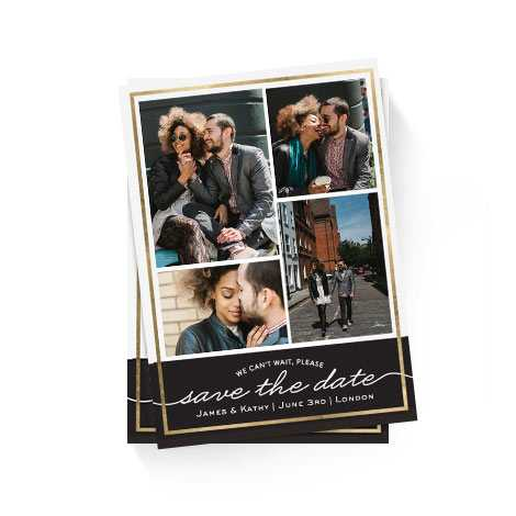 Save the Date Gold Frame