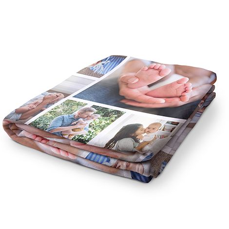 Collage Arctic Fleece Photo Blanket