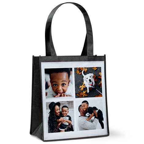 Icon Collage Reusable Grocery Tote Bag