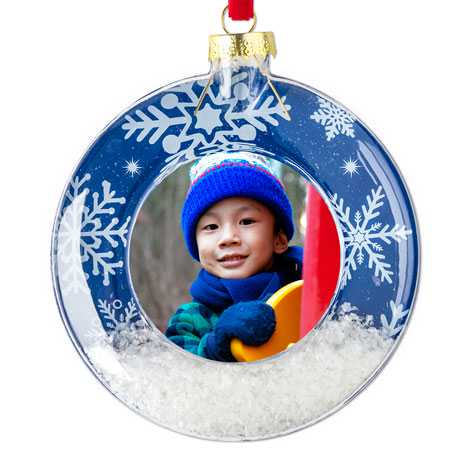 Icon Snow Scene Christmas Ornament
