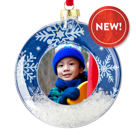 Snow Scene Christmas Ornament