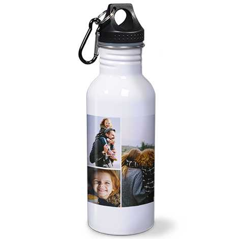Collage Stainless Steel Water Bottle, 20oz.