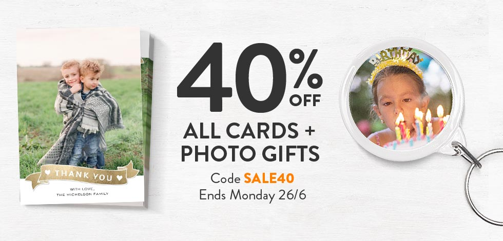Shop Photo Gifts + Cards