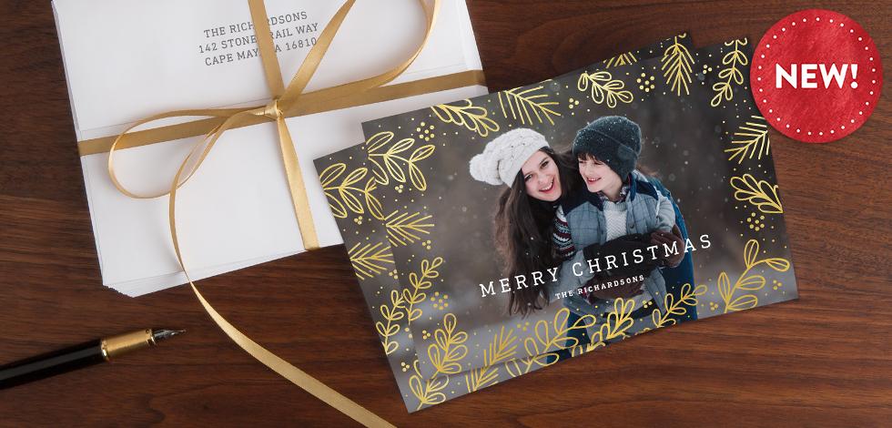 Real Foil-Stamped Cards
