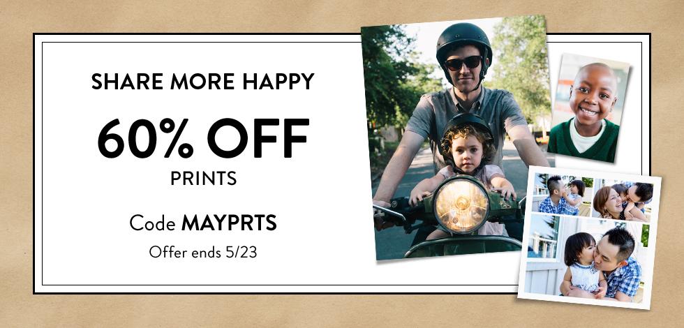 60% off prints