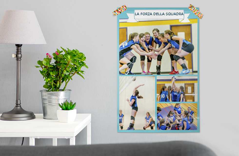 Una foto poster della tua squadra!
