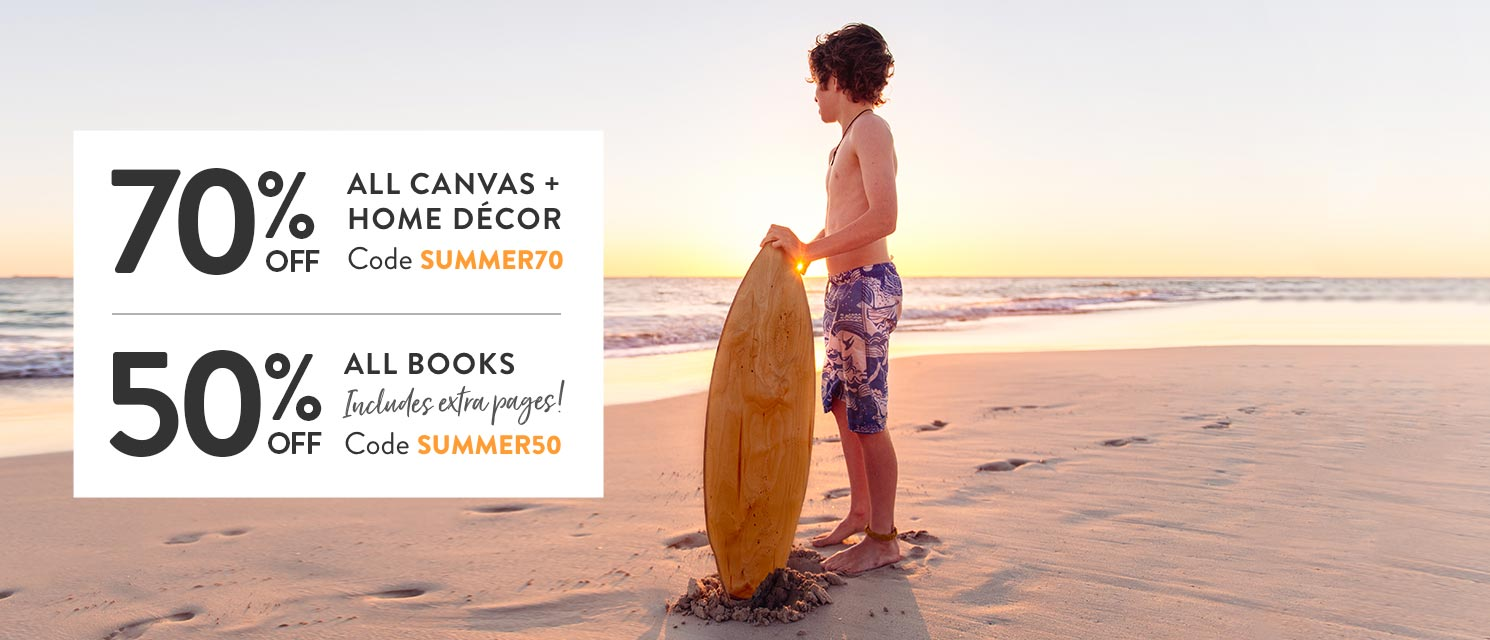 End of Summer : Save up to 70% on our bestselling photo books and canvas prints. Ends 19/2