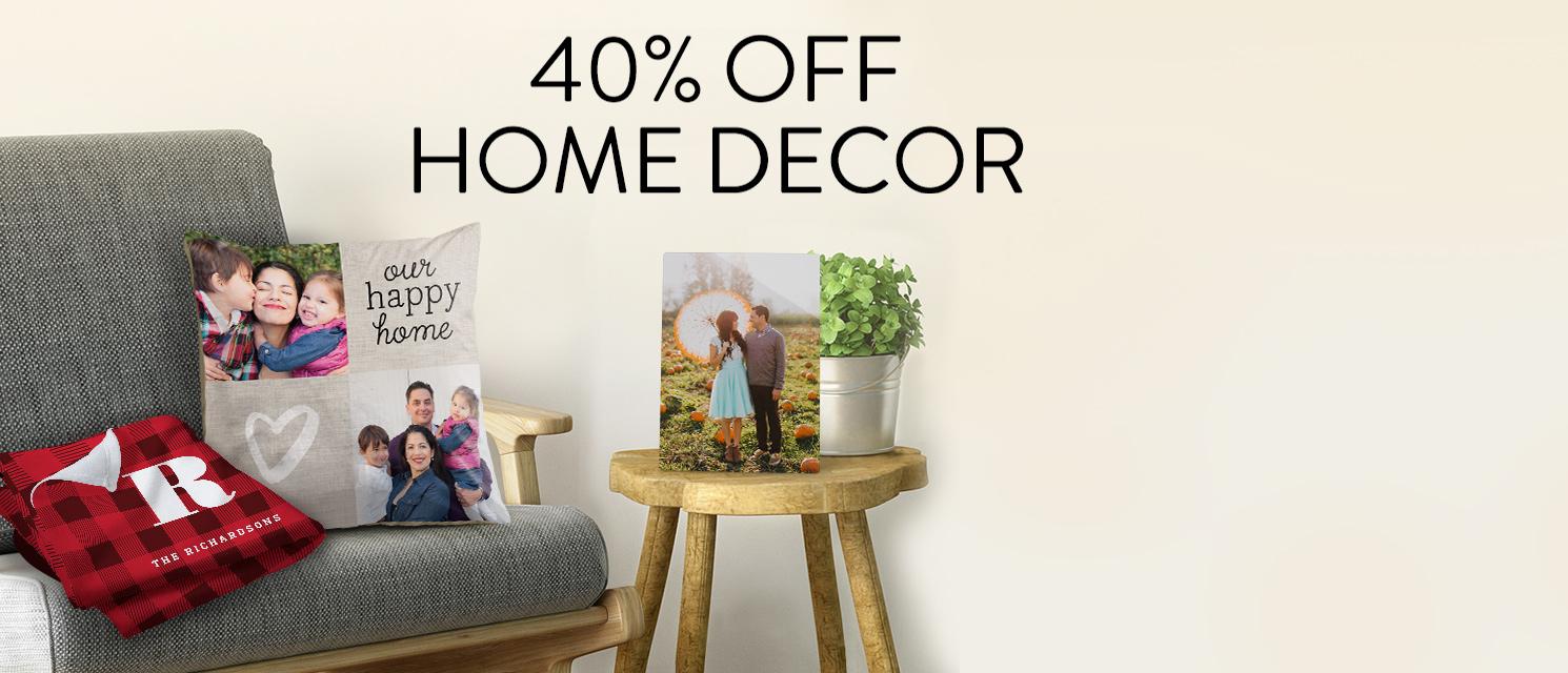 40% off Home Décor!