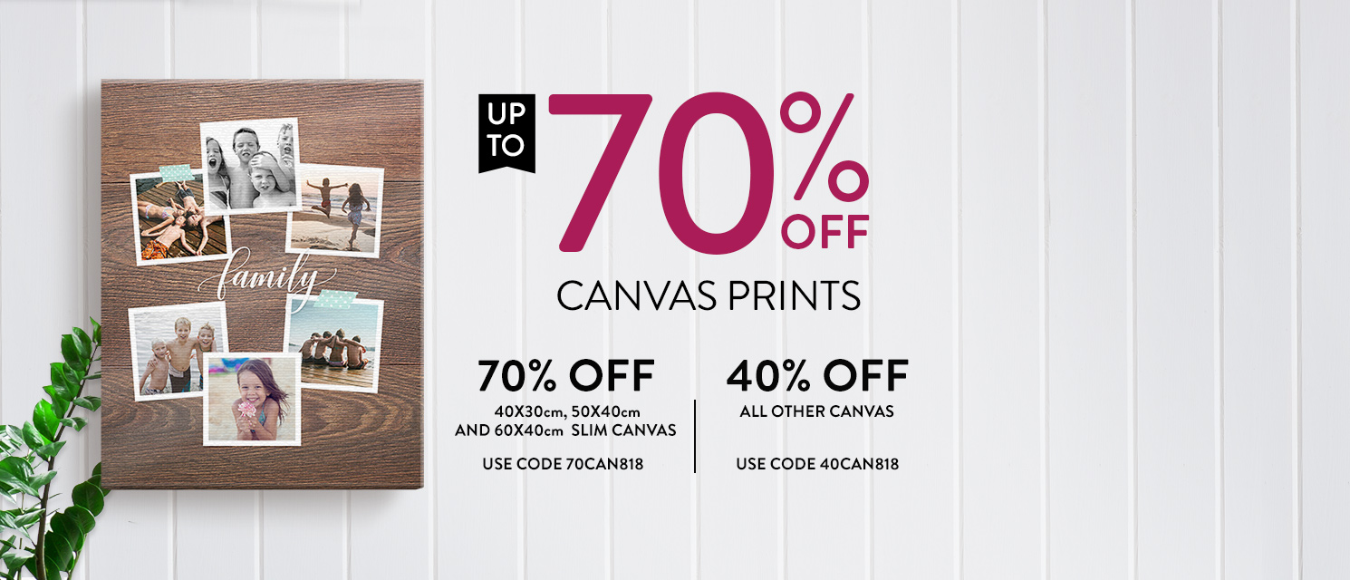 Up to 70% off all Canvas!